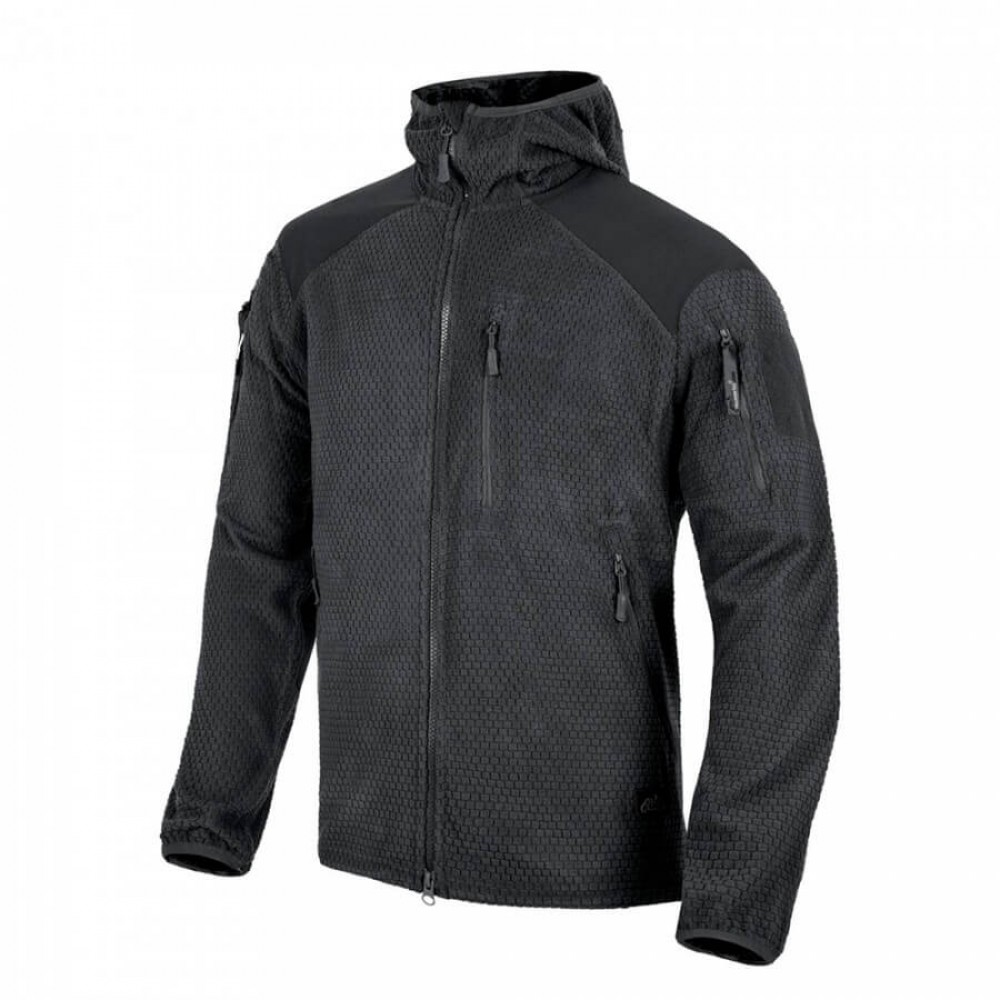 КУРТКА ALPHA HOODIE GRID FLEECE HELIKON-TEX BLACK